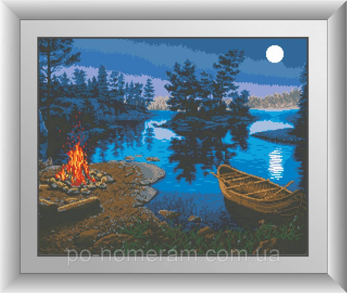 Картина из страз Dream Art На берегу (квадратные камни, полная зашивка) (DA-30459) 50 х 62 см (Без подрамника)