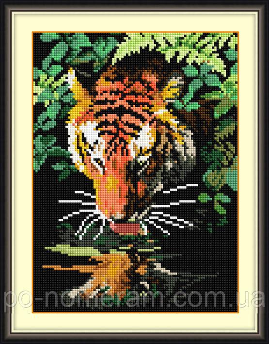 Картина алмазная вышивка Dream Art Хозяин джунглей (квадратные камни, полная зашивка) (DA-30472) 22 х 30 см (Без подрамника)