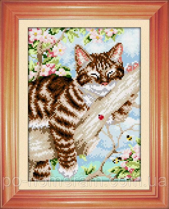 Картина из мозаики Dream Art На веточке (квадратные камни, полная зашивка) (DA-30473) 22 х 31 см (Без подрамника)