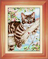 Картина из мозаики Dream Art На веточке (квадратные камни, полная зашивка) (DA-30473) 22 х 31 см