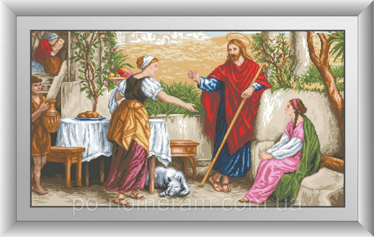 Набор алмазная мозаика Dream Art Иисус, Марфа и Мария (квадратные камни, полная зашивка) (DA-30481) 56 х 100 см (Без подрамника)