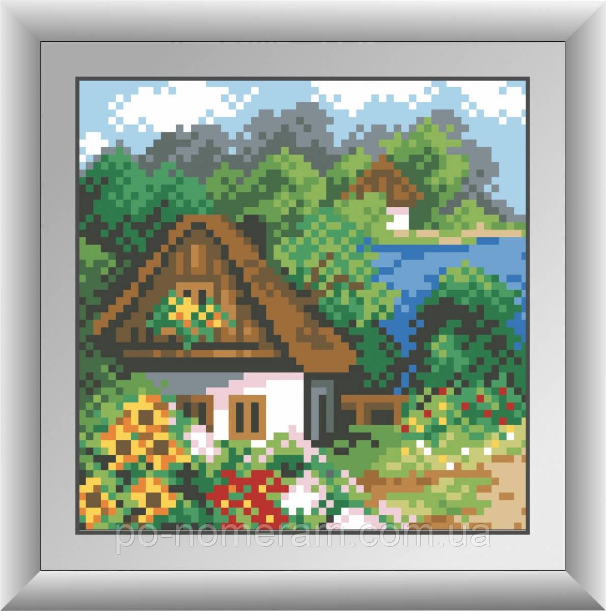 Набор алмазная вышивка Dream Art Весенний домик (квадратные камни, полная зашивка) (DA-30488) 15 х 15 см (Без подрамника)