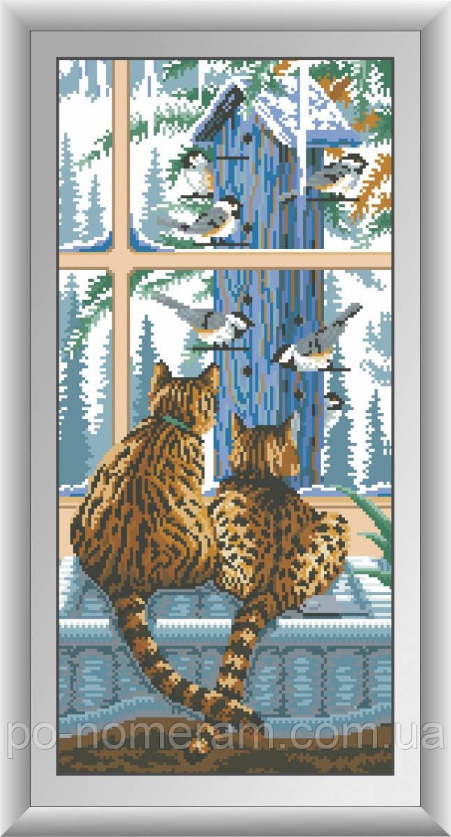 Набор алмазная мозаика Dream Art Наблюдатели (квадратные камни, полная зашивка) (DA-30492) 28 х 60 см (Без подрамника)