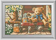 Алмазная живопись Dream Art Медвежонок с медом (квадратные камни, полная зашивка) (DA-30494) 31 х 49 см