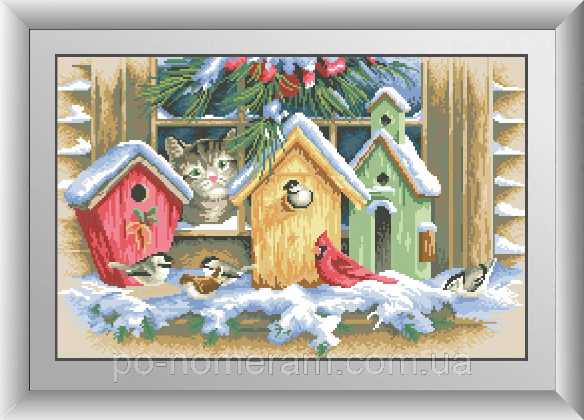 Алмазная вышивка Dream Art Из окна (квадратные камни, полная зашивка) (DA-30496) 38 х 59 см (Без подрамника)