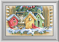 Алмазная вышивка Dream Art Из окна (квадратные камни, полная зашивка) (DA-30496) 38 х 59 см