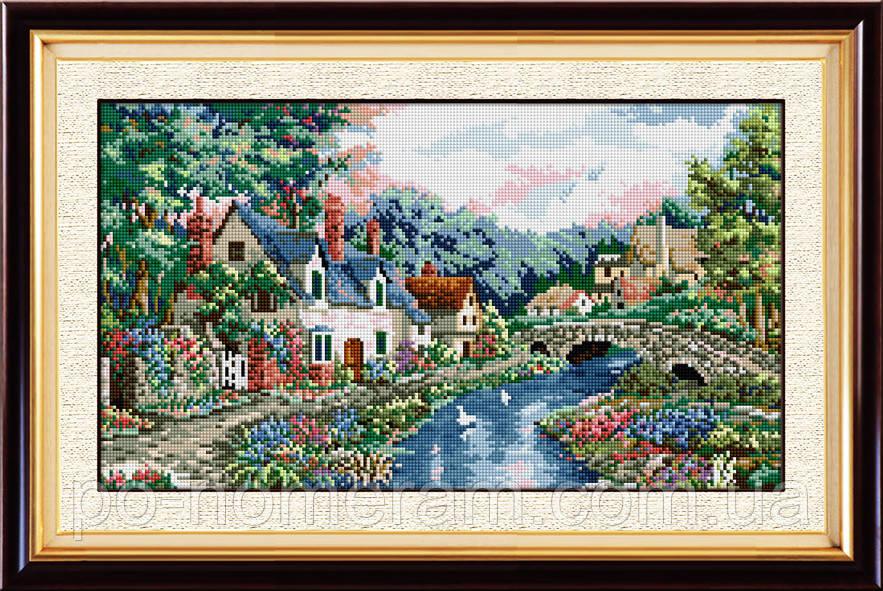 Алмазная вышивка Dream Art Райское место (квадратные камни, полная зашивка) (DA-30505) 35 х 60 см (Без подрамника)