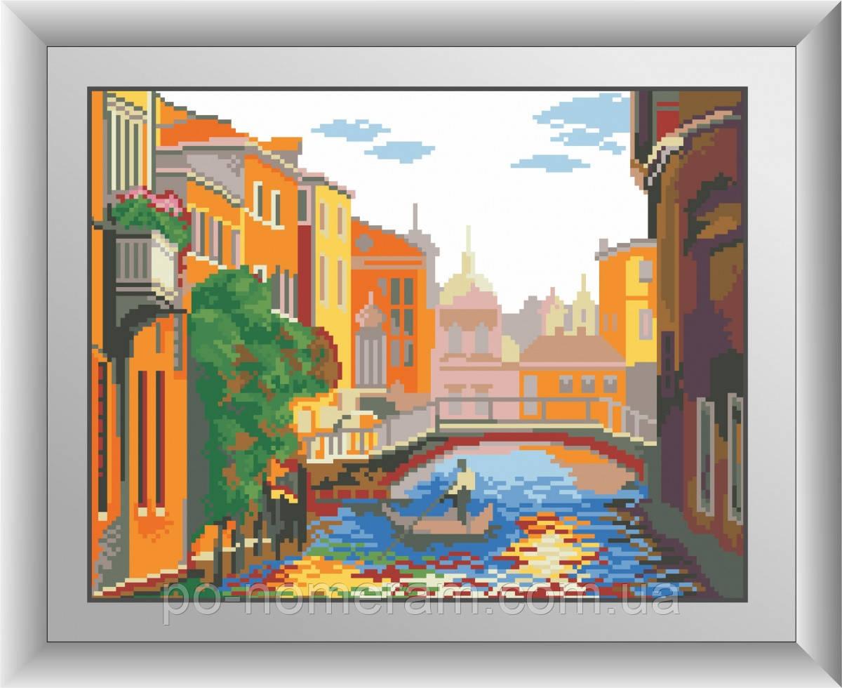 Картина алмазная вышивка Dream Art Канал в Венеции (квадратные камни, полная зашивка) (DA-30513) 29 х 37 см (Без подрамника)