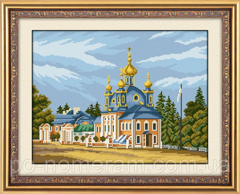 Картина из мозаики Dream Art Храм (квадратные камни, полная зашивка) (DA-30514) 37 х 50 см (Без подрамника)