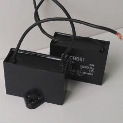 Cbb61 25,0 mkf - 450VAC (±5%) 70x38x52 дроти, поліпропіленові в прямокутному корпусі
