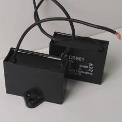 Cbb61 1,0 mkf - 450 VAC (±5%) 37x11x22 дроти, поліпропіленові в прямокутному корпусі