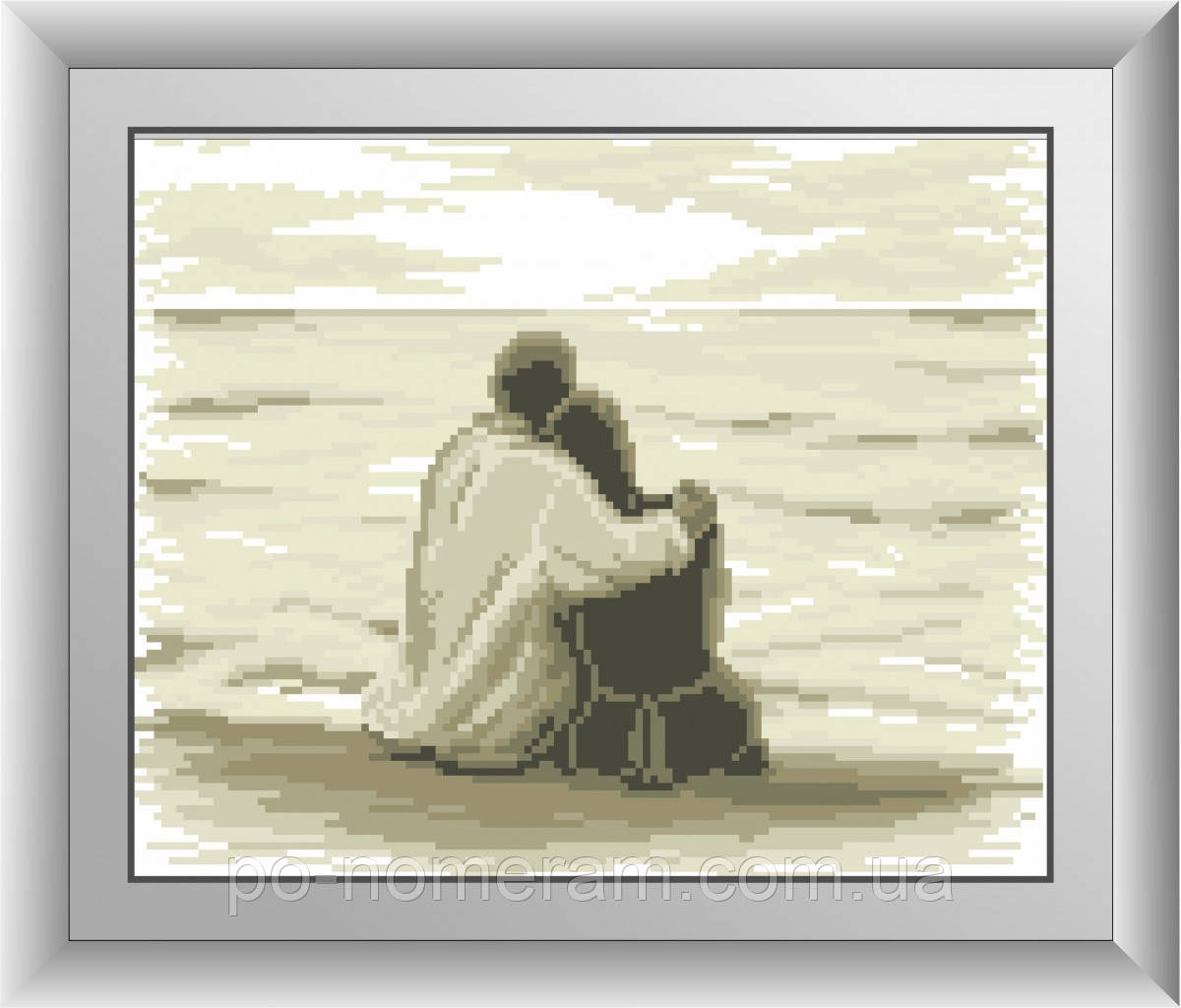 Алмазная вышивка Dream Art Пара на берегу (квадратные камни, полная зашивка) (DA-30545) 25 х 31 см (Без подрамника)