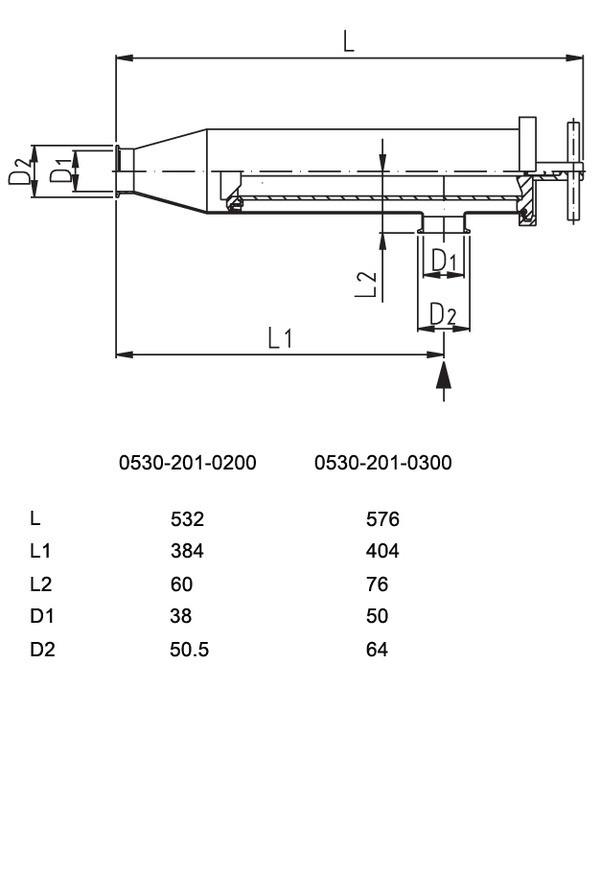 """Фильтр молочный CrNi, 1½"""" TCL, с фильтрующим элементом 0,3 мм"""