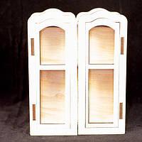 Деревянный кукольный большой шкаф с дверьми