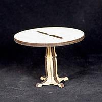 Деревянный кукольный столик круглый
