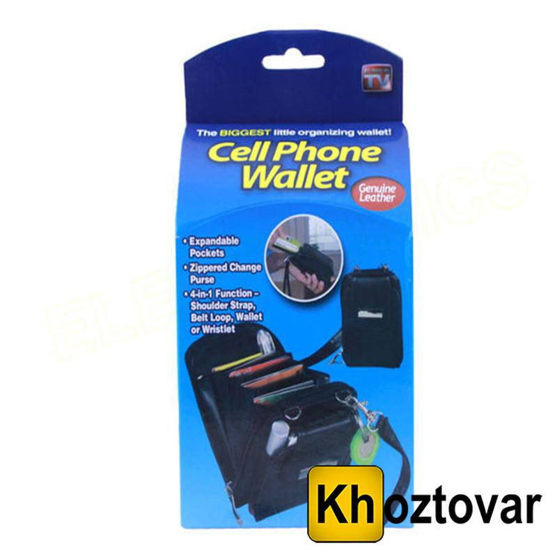 Кошелек Cell Phone Wallet 4 в 1   Чехол-кошелек для телефона