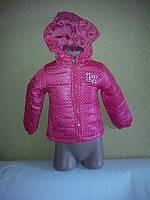 Курточка демисезонная теплая  для девочек на 2-5 лет