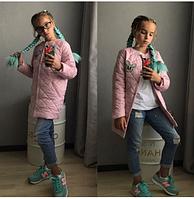 Куртка длинная для девочки,подросток,10-13 лет,розовая