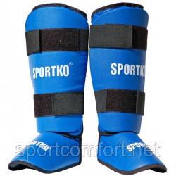Защита стопы и голени Sportko (пвх) синяя