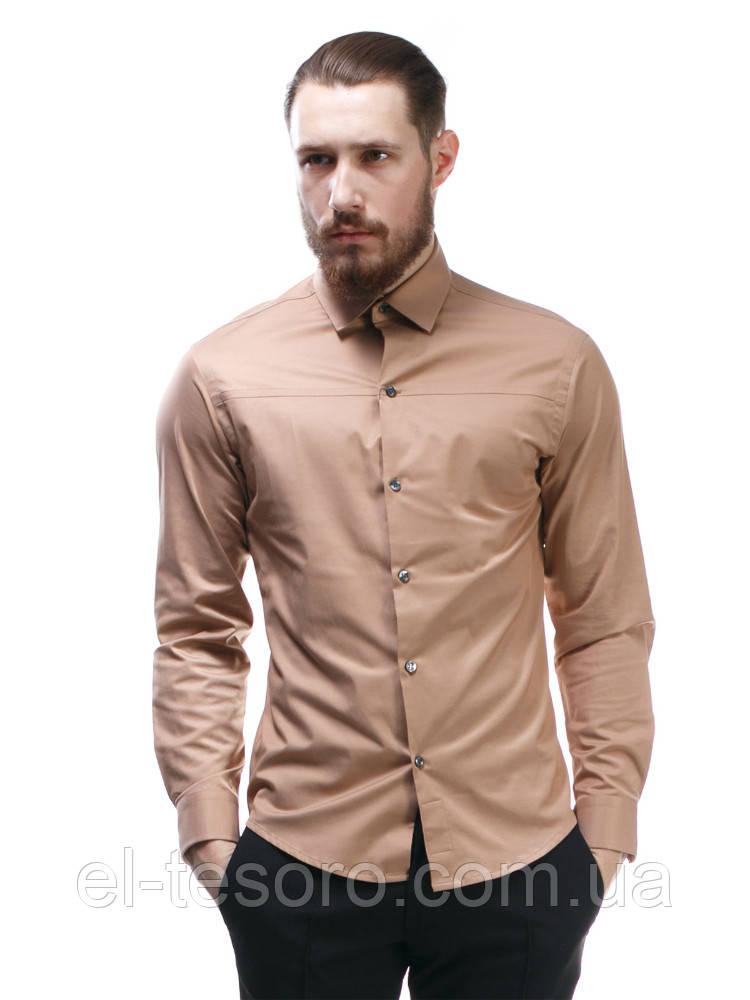 Рубашка Maksymiv S-103 41 Коричневый