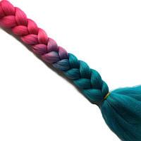 Цветные косички из канекалона-искусственные волосы из канекалона, боксерские косички, boxer braids- Омбре №27