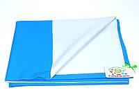 Хлопковая подкладная пеленка/клеенка пропитанная латексом  (голубая)