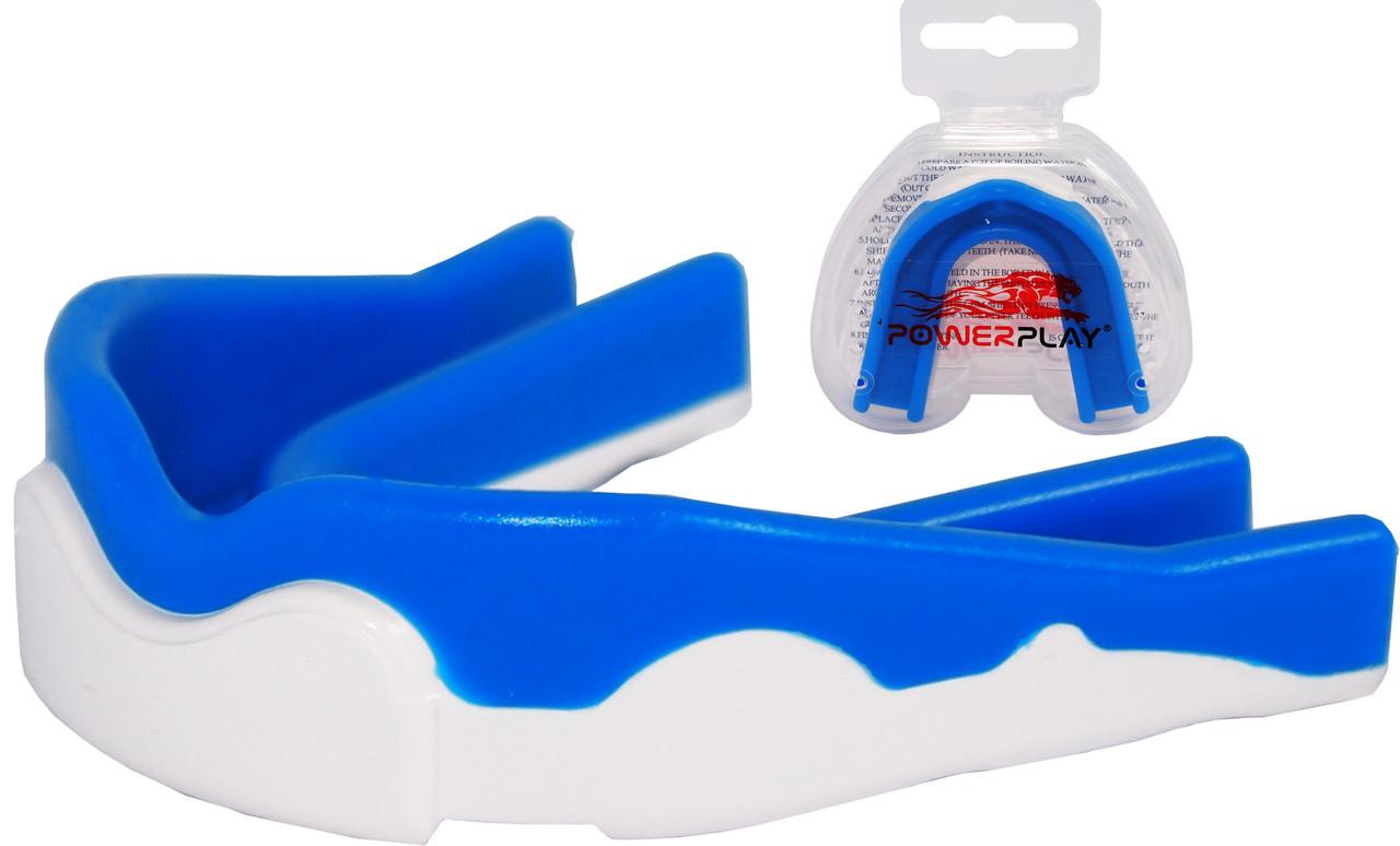 Капа боксерская 3303 White/Blue  SR