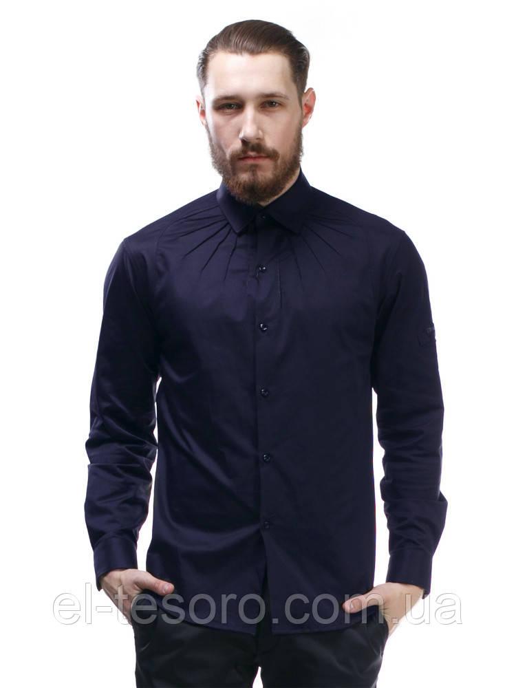 Рубашка Maksymiv S-107-2 L Синий