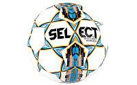 Мяч футбольный №5 SELECT BRILLANT REPLICA (белый-синий-оранжевый)