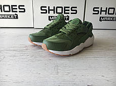 Женские кроссовки Nike Wmns Air Huarache Run Premium/Palm Green 683818-300, Найк Аир Хуарачи, фото 3