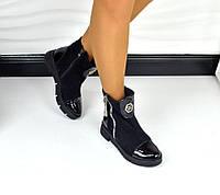 Демисезонные ботинки PP натуральная кожа + замша, внутри байка