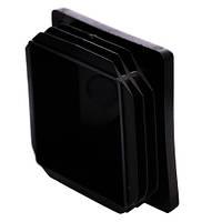 Заглушка  60Х60 мм пластиковая для профильной трубы плоская черная