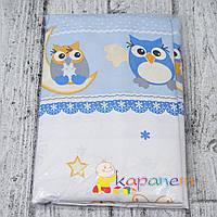 Комплект постельного белья в кроватку новорожденному 3 предмета