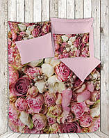 Двуспальный евро комплект белья сатин 3D  Dantela Vita Sweet rose