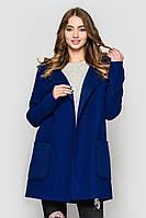 Женское пальто на булавке с капюшоном