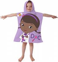Пляжное полотенце-пончо Доктор Плюшева для девочки 2-6 лет