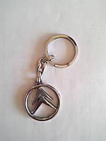 Брелок для ключей металлический оригинальный марка авто ситрое Citroen, фото 1