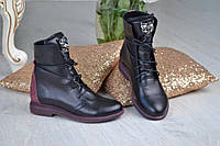 """Ботинки женские- натуральная итальянская кожа """"Roberto Cavalli"""""""