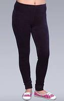Велюровые лосины женские леггинсы черные мягкие брюки велюр