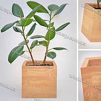 """Квадратный вазон из дерева для домашних растений """"CUBE"""", новая коллекция """"Stylish INTERIOR"""""""