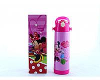 Термос детский с трубочкой Mickey Mouse Disney  500мл Розовый