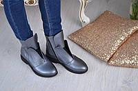 Ботинки женские- натуральная итальянская кожа с цепочкой