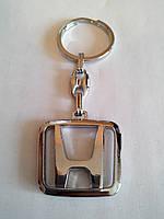 Брелок для ключей металлический оригинальный марка авто хонда Honda, фото 1