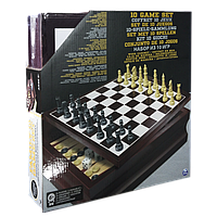 Набор из 10 классических игр в деревянной коробке Spin Master (SM98376/6033153)