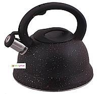 Чайник металлический Hoffner cо свистком 2.8l индукция, газ, электрика