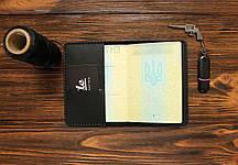 Обложка для паспорта ручной работы VOILE vl-pc1-blk, фото 3
