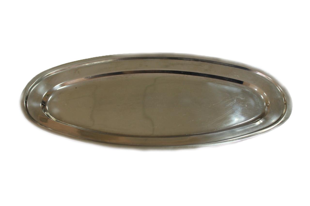 Блюдо овальной формы, узкое - металл