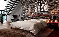 Кровать деревянная Британия с кованым изголовьем