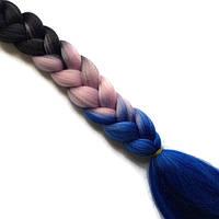 Канекалон цветной омбре-искусственные волосы из канекалона, боксерские косички, boxer braids- Омбре №33, фото 1