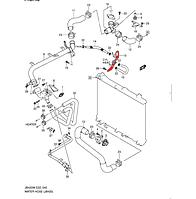 Деталь системы охлаждения Suzuki Grand Vitara 2006 2.0 MT, 17590-65J00